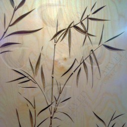 Bamboo Carved Wall Art in Flat Matt finish