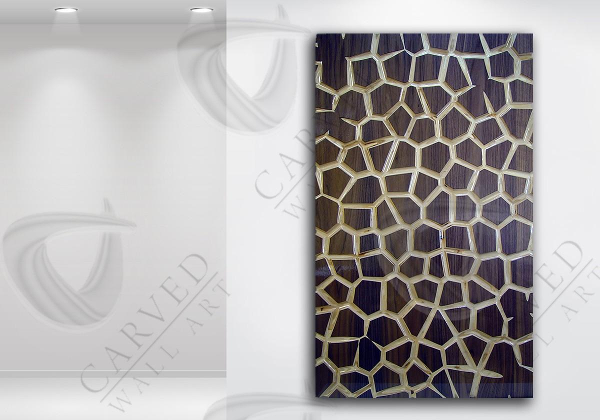 MosaiK Veneered Carved Wall Art
