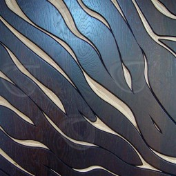 Zebra Stripes MoKKa Carved Wall Art