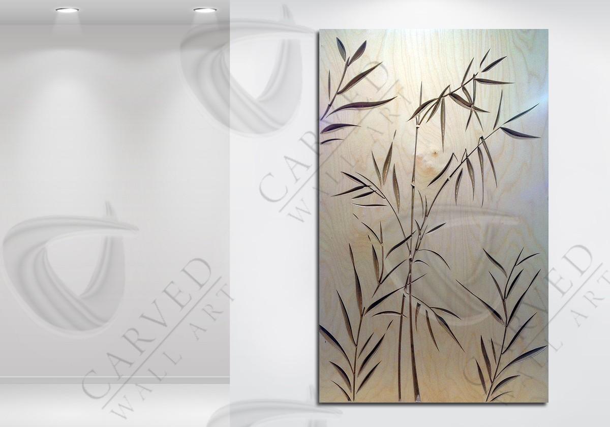 Bamboo Carved Wall Art in Flat Matt finish