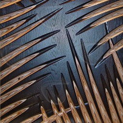 Palm Leaves MoKKa Carved Wall Art