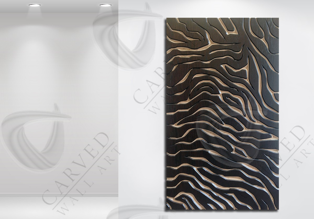 Tiger Stripes/Skin MoKKa Carved Wall Art