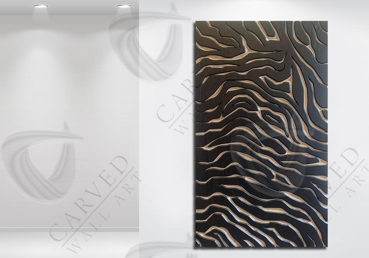 Tiger Stripes/Skin MoKKa Carved Wall Art
