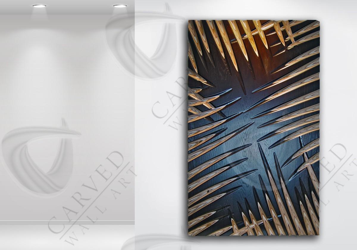 Palm Leaves MoKKa Carved Wall Art