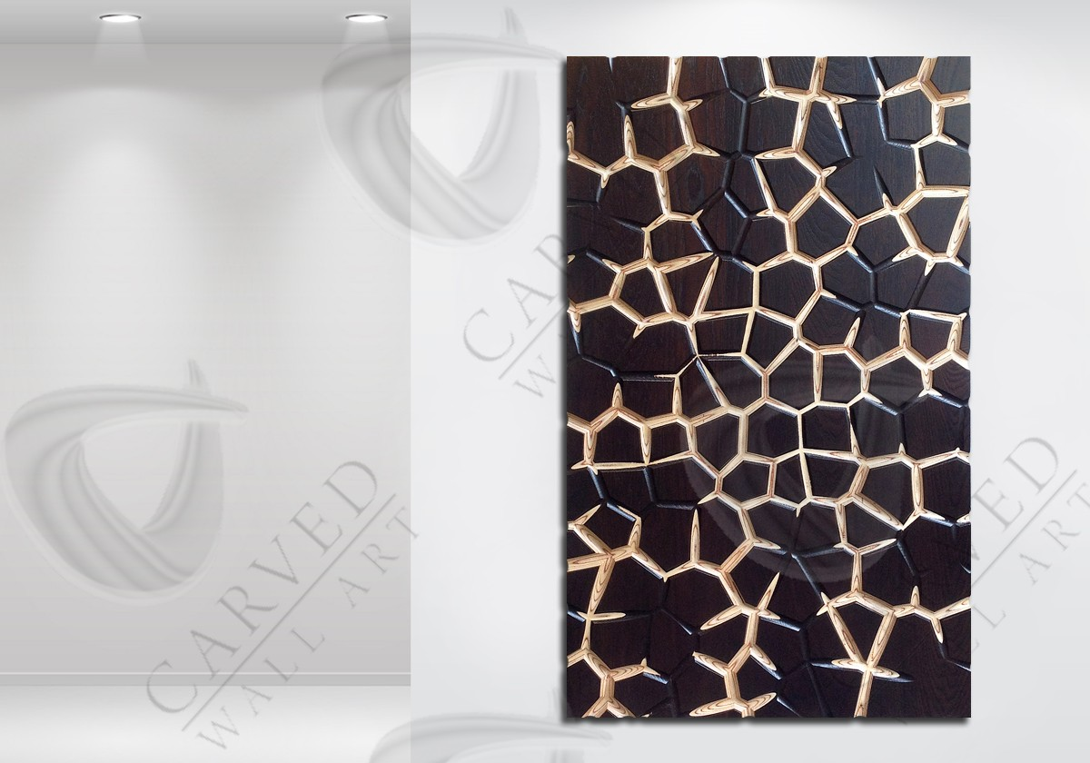 Giraffe MoKKa Carved Wall Art