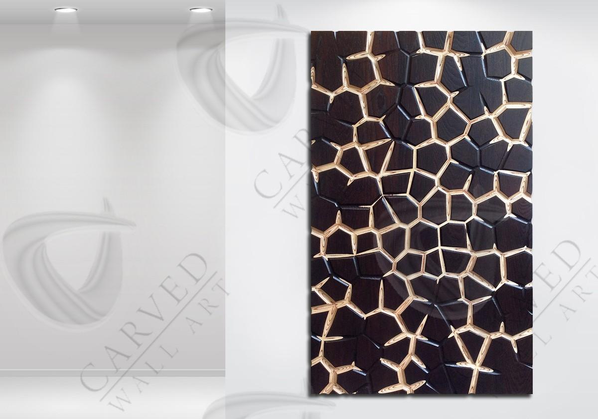 Giraffe MoKKa Carved Wall Art